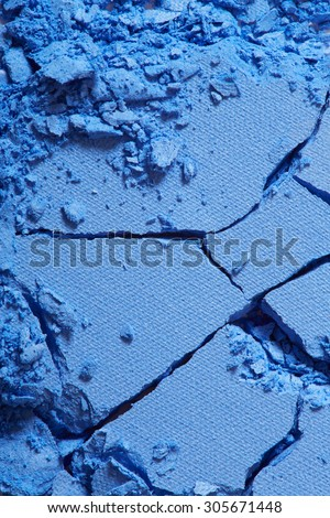 Blue eye shadow crushed texture background - stock photo