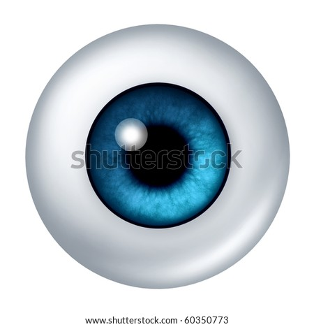 blue eyes isolated