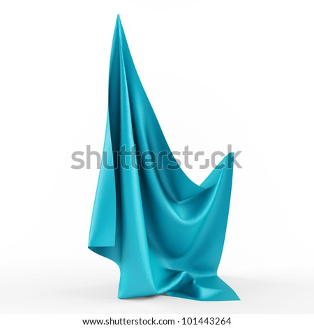 blue fabric - stock photo