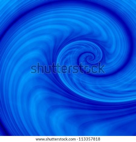 Blue fantasy wave - stock photo