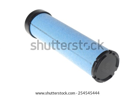 blue filter for vehicles isolated on white  - stock photo
