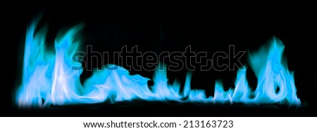 Blue fire light smoke abstract background.
