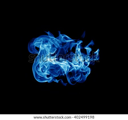 blue Fire smoke ball with free space for textund