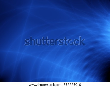 Blue flow energy abstract wallpaper pattern - stock photo