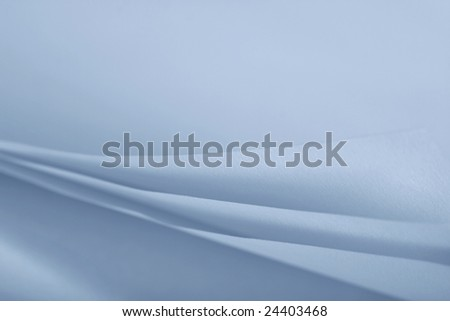 blue folds of paper - stock photo