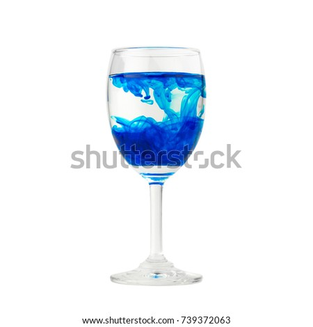 Blue Food Coloring Diffuse Water Inside Stock Photo (Royalty Free ...