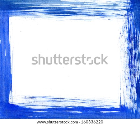 Blue frame - stock photo