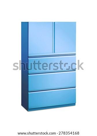 blue furniture - stock photo