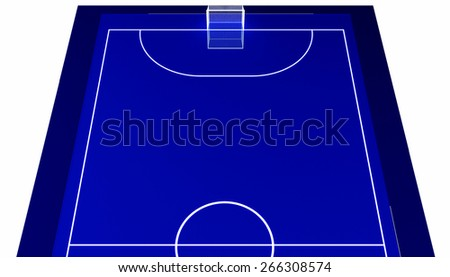 Blue futsal stadium - stock photo