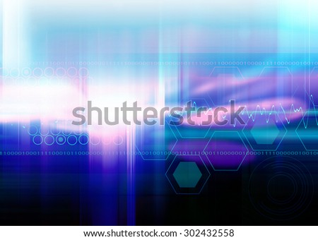 Blue Futuristic Abstract Design Background - stock photo