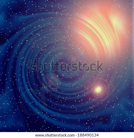 Blue galaxy background - stock photo