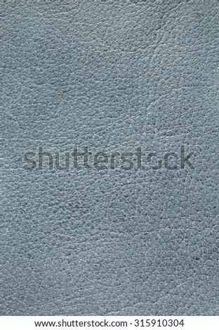 Blue genuine leather background - stock photo