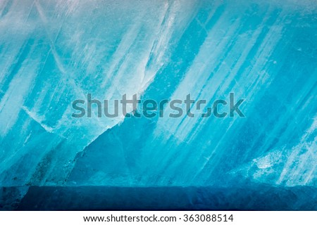 Blue glacier as background - stock photo
