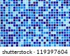 Blue glass mosaic texture background - stock photo