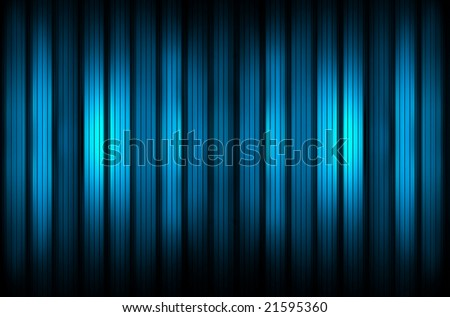 Blue glass wall - stock photo