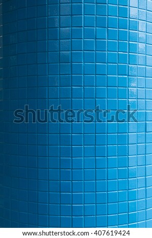 blue glazed tile background