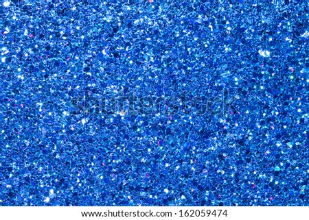 Blue Glitter Background/Texture/Abstract. - stock photo
