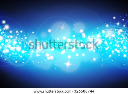 Blue glitter sparkle defocused rays lights bokeh abstract sparkling tecnology background.