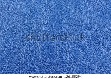 Blue Glossy Leather Background Texture - stock photo