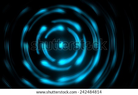 Blue Glowing Abstract image - stock photo
