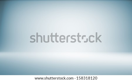 Blue gradient background. 3d rendering. Photo studio - stock photo
