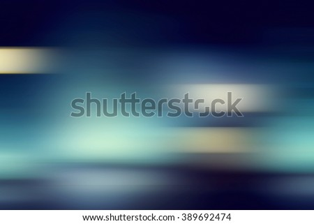 Blue gradient lines blurred in motion - stock photo