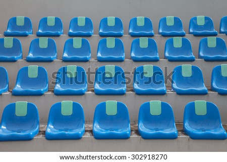 blue grandstand - stock photo