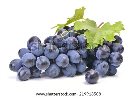 Blue grape - stock photo