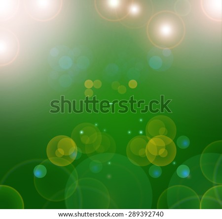Blue, green and turquoise background with bokeh defocused lights?there are many other different bokeh background in my portfolio - stock photo