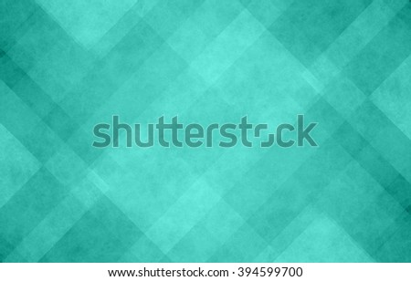 blue green and white abstract background with angled lines, blocks, squares, diamonds, rectangles and triangle shapes layered in checkered style abstract pattern - stock photo