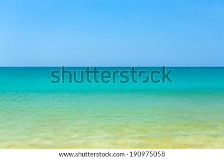 Blue-green turquoise tropical sea - stock photo