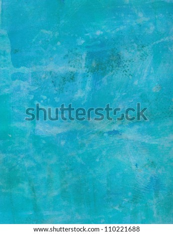 Blue grunge abstract textured background. Hand painted. - stock photo
