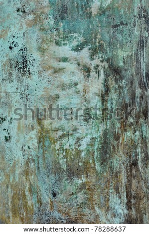 Blue Grunge Metal Texture Background - stock photo