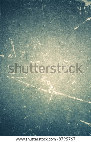 Blue grunge scratched shabby book grained texture - stock photo