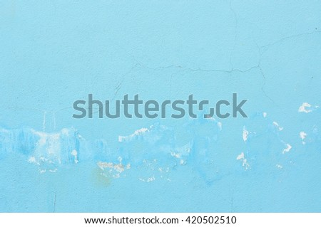 Blue grunge wall for texture background - stock photo