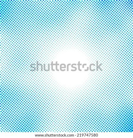 blue halftone pattern - stock photo