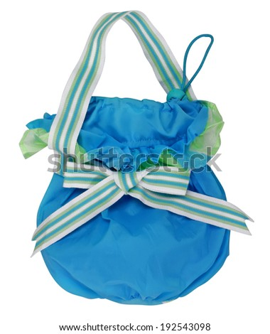 blue handbag isolated on white