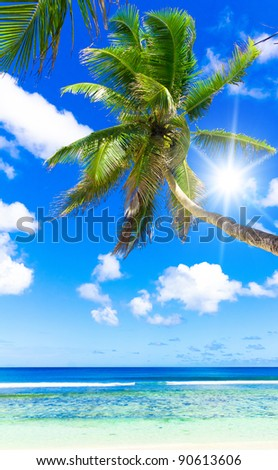 Blue Heaven Vacation in a Dream - stock photo
