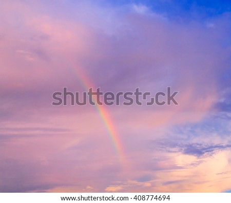 Blue Heavens Fragment of a Rainbow  - stock photo