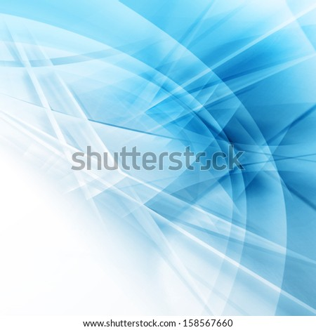 Blue Hi-Tech Background Design - stock photo