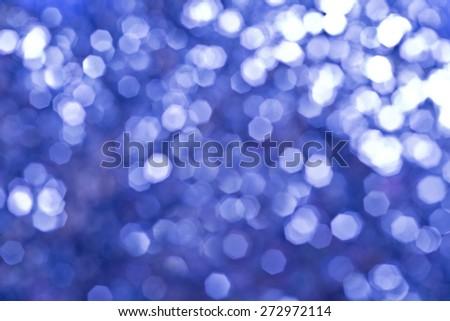Blue holiday bokeh.  - stock photo