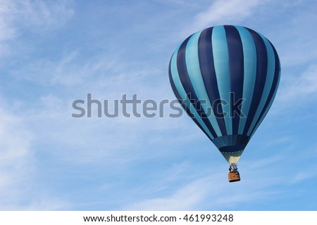 Blue Hot Air Balloon Close Up