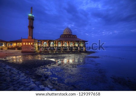 Blue hour and mosque