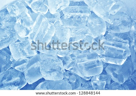 Blue ice abstract background - stock photo