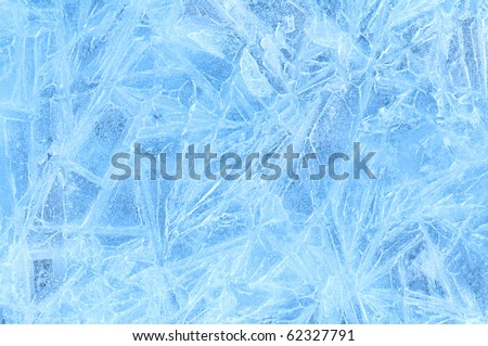 blue ice frozen water natural background - stock photo