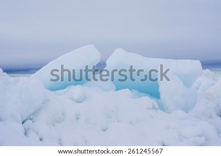 Blue ice in the Arctic