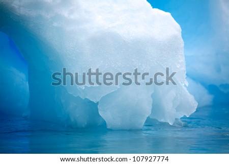 Blue Iceberg Antarctica - stock photo