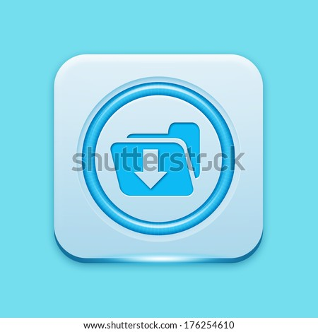 Blue icon edge light - stock photo