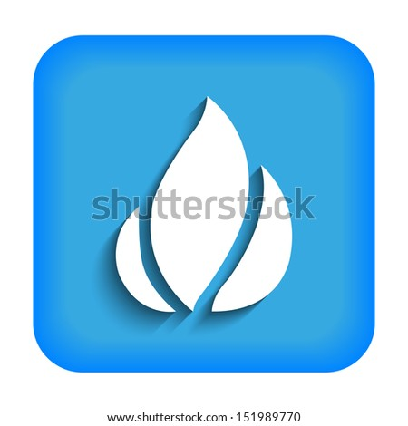Blue icon with the image of fire