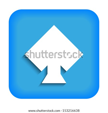Blue icon with the image of rustrakehner color spades ace - stock photo